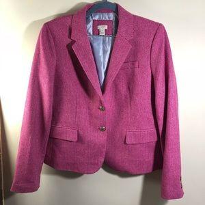 J. Crew Women's Pink Blazer Jacket Size 14